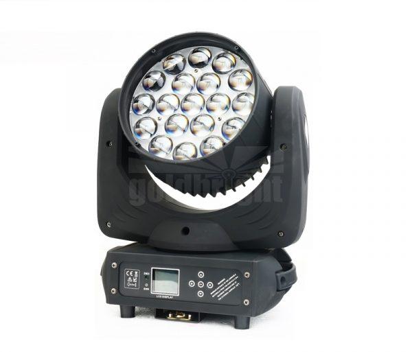 19x15w led rgbw wash zoom light