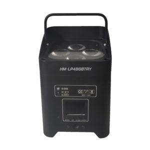 Battery powered wireless dmx par up light